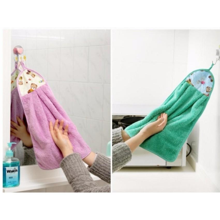 COMBO 4 Khăn lau tay nhà bếp, nhà vệ sinh  - chất bông mềm thấm nước
